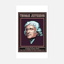 Jefferson -Liberty Rectangle Decal
