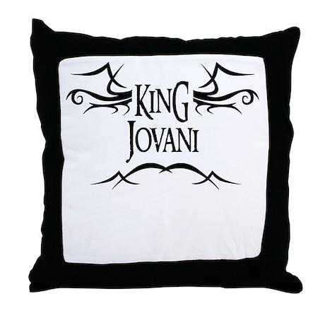 King Jovani Throw Pillow