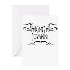 King Jovanni Greeting Card