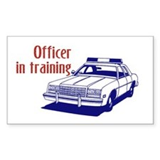 """""""Officer in Training"""" Rectangle Decal"""