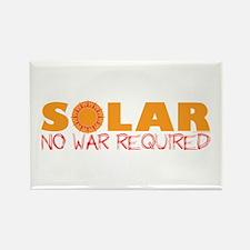 Solar Energy No War Rectangle Magnet
