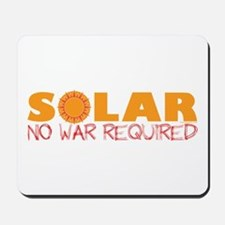 Solar Energy No War Mousepad