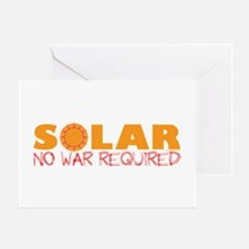 Solar Energy No War Greeting Card