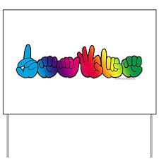 DEAFIE Rainbow Yard Sign