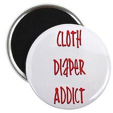 """Cloth Diaper Addict 2.25"""" Magnet (10 pack)"""