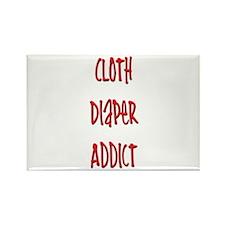 Cloth Diaper Addict Rectangle Magnet (10 pack)