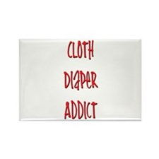 Cloth Diaper Addict Rectangle Magnet