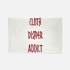 Cloth Diaper Addict Rectangle Magnet