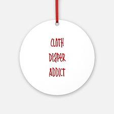 Cloth Diaper Addict Ornament (Round)