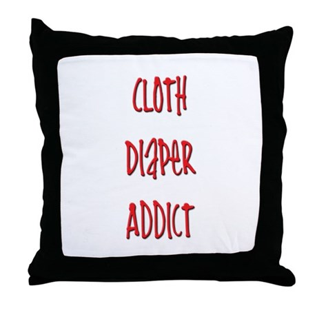 Cloth Diaper Addict Throw Pillow