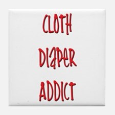 Cloth Diaper Addict Tile Coaster