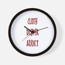 Cloth Diaper Addict Wall Clock