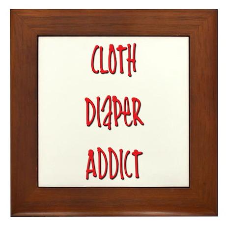 Cloth Diaper Addict Framed Tile