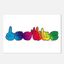 DEAFIE Rainbow Postcards (Package of 8)