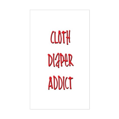 Cloth Diaper Addict Rectangle Sticker