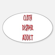 Cloth Diaper Addict Oval Decal