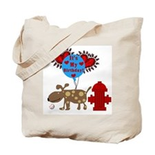 Puppy Dog Birthday Tote Bag