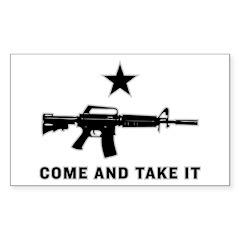 Come And Take It Rectangle Sticker 50 pk)