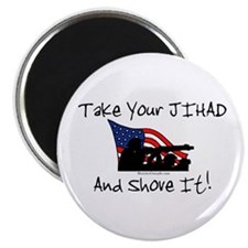 "No Jihad Zone 2.25"" Magnet (100 pack)"