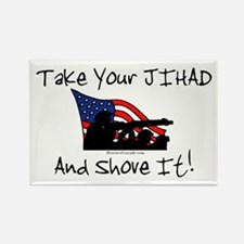 No Jihad Zone Rectangle Magnet (10 pack)