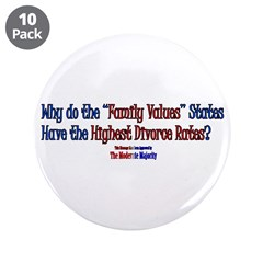 """""""Family Values"""" 3.5"""" Button (10 pack)"""