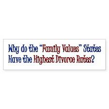 """""""Family Values"""" Bumper Sticker"""