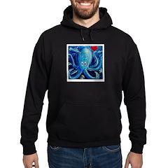 Octopus of Love Hoodie (dark)