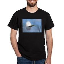 FA 18 Hornet Breaks sound Barrier Black T-Shirt