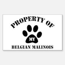 My Belgian Malinois Rectangle Decal