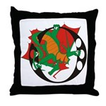 Dragon O Throw Pillow