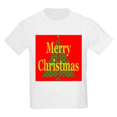 K9 Paw Christmas Tree Kids T-Shirt