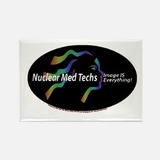 Nuclear med tech Image is eve Rectangle Magnet (10