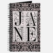 Jane Filigree Block Letter Journal