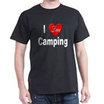 I Love Camping (Front) Black T-Shirt