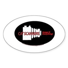 Cat scanners camers Oval Decal