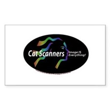 Cat scanners image is everyth Rectangle Decal