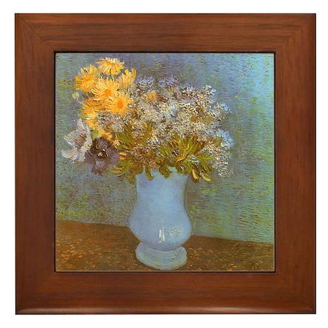 Van Gogh Lilacs and Daisies Framed Tile