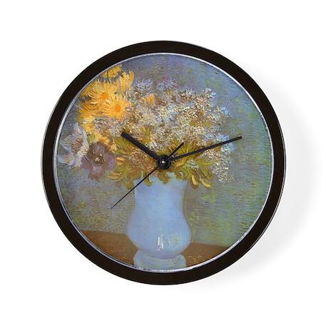 Van Gogh Lilacs and Daisies Wall Clock