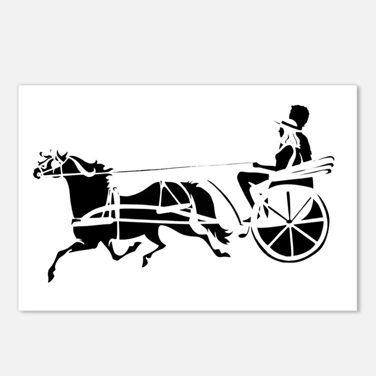 """""""The First Carriage Horse"""" Postcards (Package of 8"""