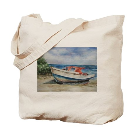 Aruba Fishing Boat Tote Bag