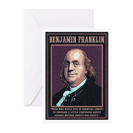 Franklin -Liberty Greeting Cards (Pk of 10)