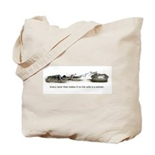 Race to Sofa Tote Bag