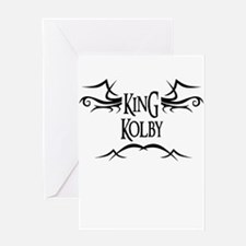 King Kolby Greeting Card