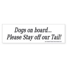 Dogs on board bumper sticker