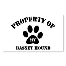 My Basset Hound Rectangle Decal