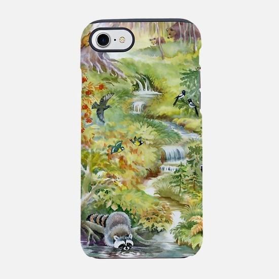 Watercolor Summer Scene iPhone 7 Tough Case
