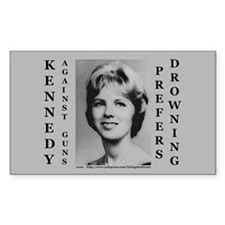 Kennedy Against Guns Rectangle Decal