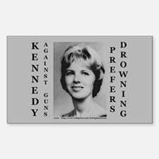 Kennedy Against Guns Rectangle Decal