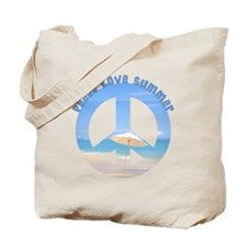 Peace Love Summer Tote Bag