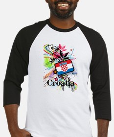 Flower Croatia Baseball Jersey